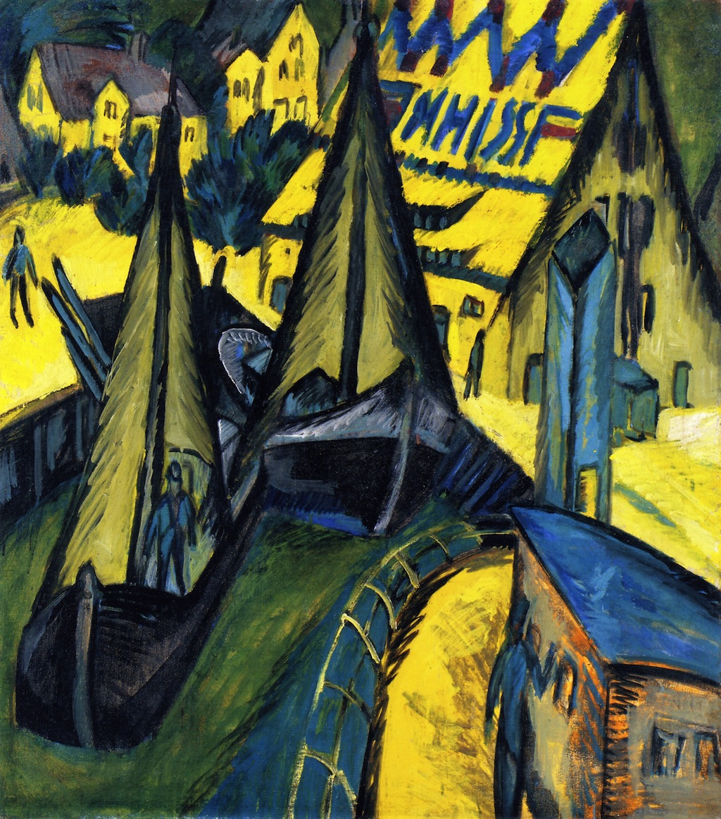Ernst Ludwig Kirchner. The harbour on the island of Fehmarn