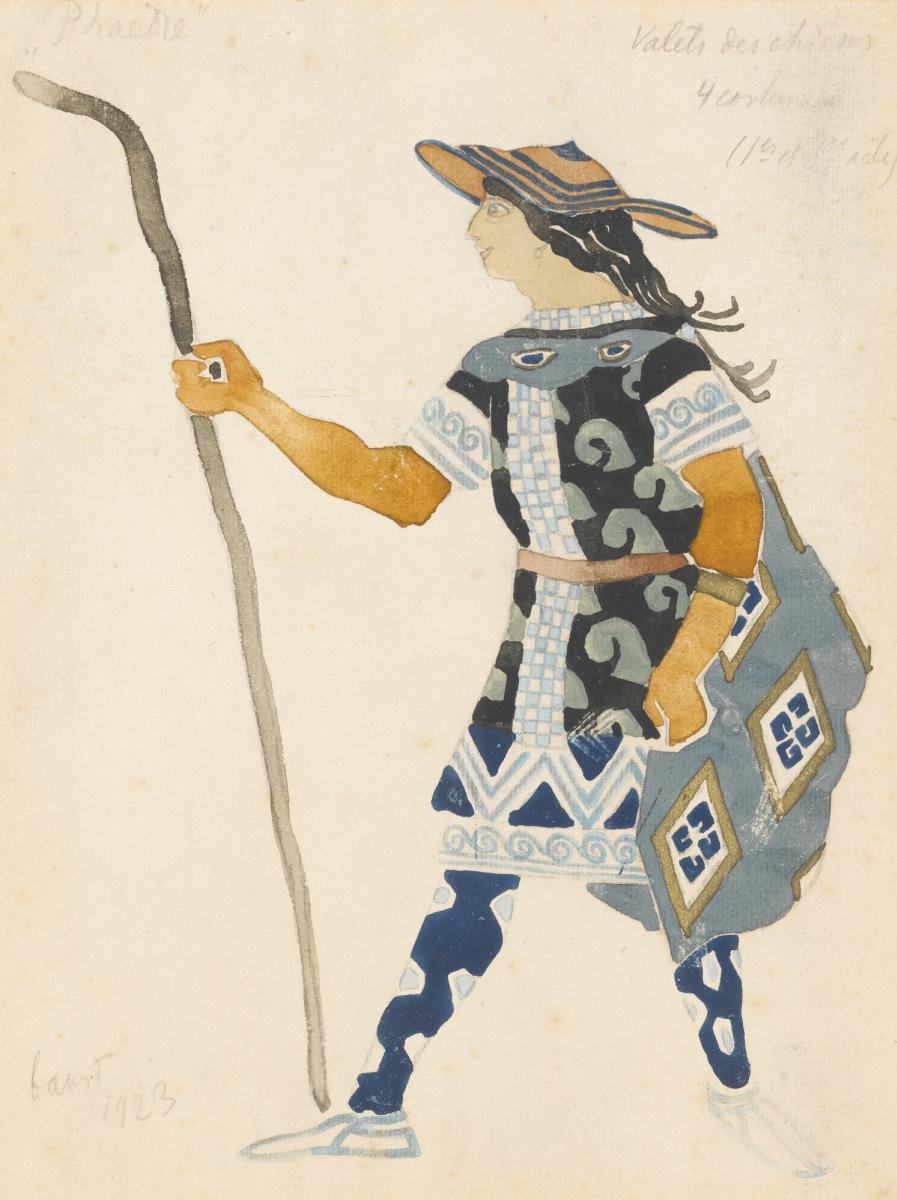 "Lev Samoilovich Bakst (Leon Bakst). Costume design for the tragedy of ""Phaedra"""