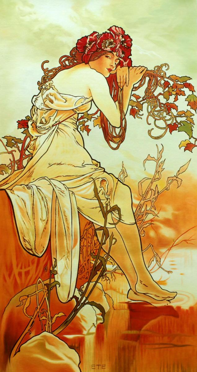 Савелий Камский. Копия картины Альфонса Мухи Лето. Серия Времена года