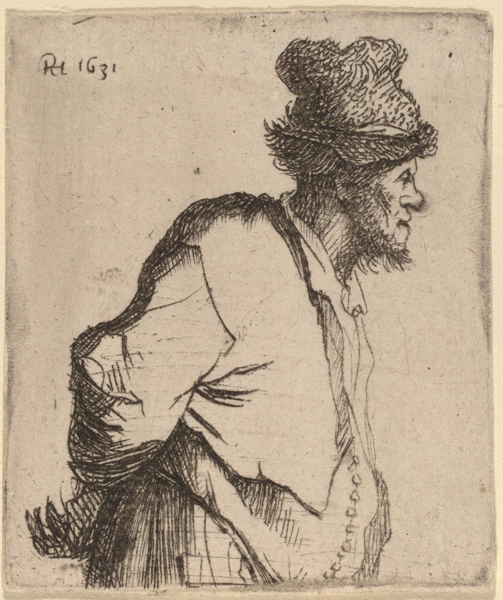 Rembrandt Harmenszoon van Rijn. Peasant with His Hands behind His Back