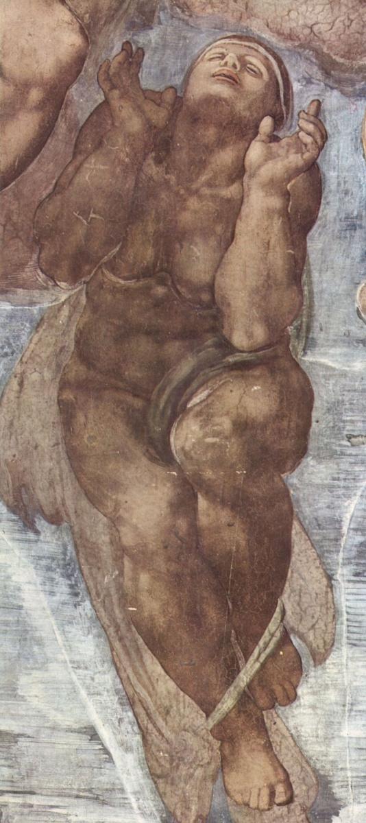 Микеланджело Буонарроти. Страшный суд, деталь: Восставшие души