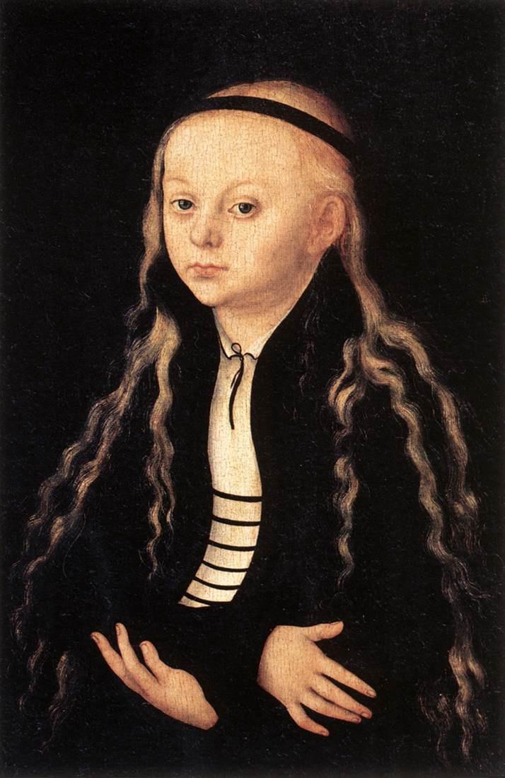 Лукас Кранах Старший. Портрет молодой девушки