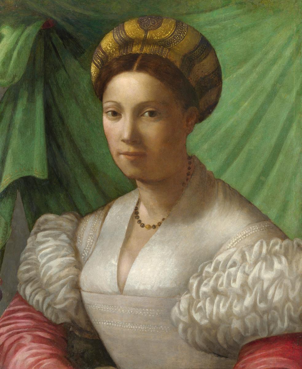 Флорентийский Итальянский. Портрет леди