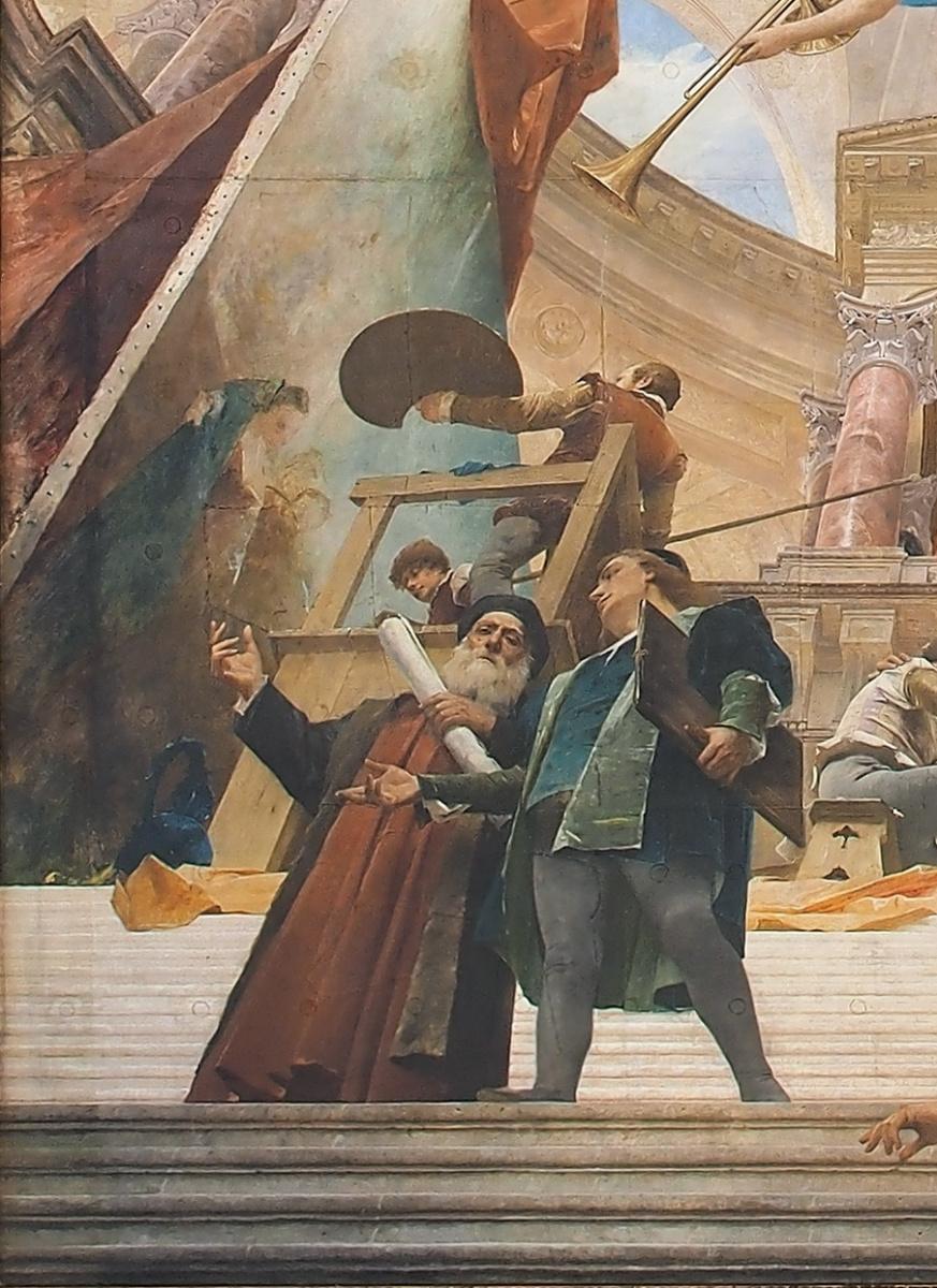 Михай Либ Мункачи. Апофеоз Ренессанса. Роспись потолка Венского музея истории искусств. Фрагмент III