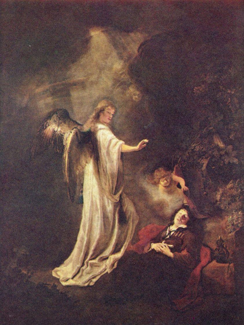 Фердинанд Балтасарс Боль. Сон Иакова о лестнице, достигающей неба