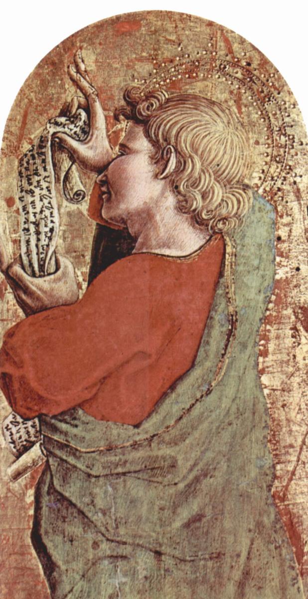 Карло Кривелли. Святой Иаков Старший. Центральный алтарь кафедрального собора в Асколи, полиптих, основание алтаря