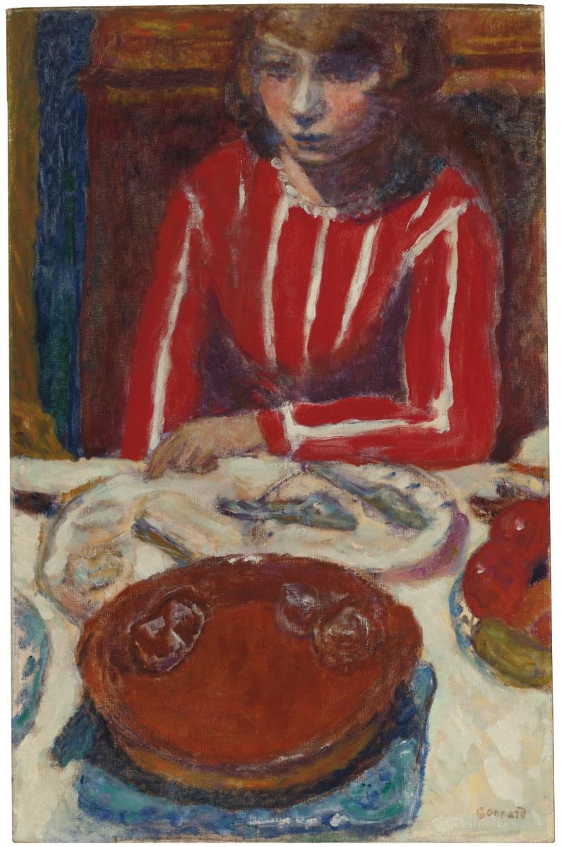 Pierre Bonnard. The woman behind the Desk