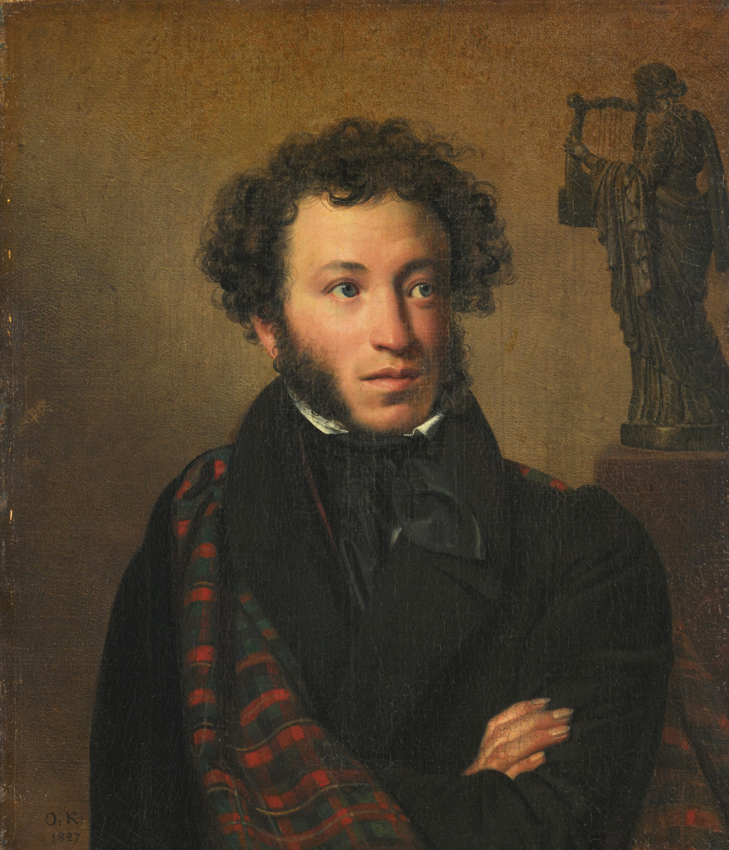 Orest Adamovich Kiprensky. Portrait of A.S. Pushkin