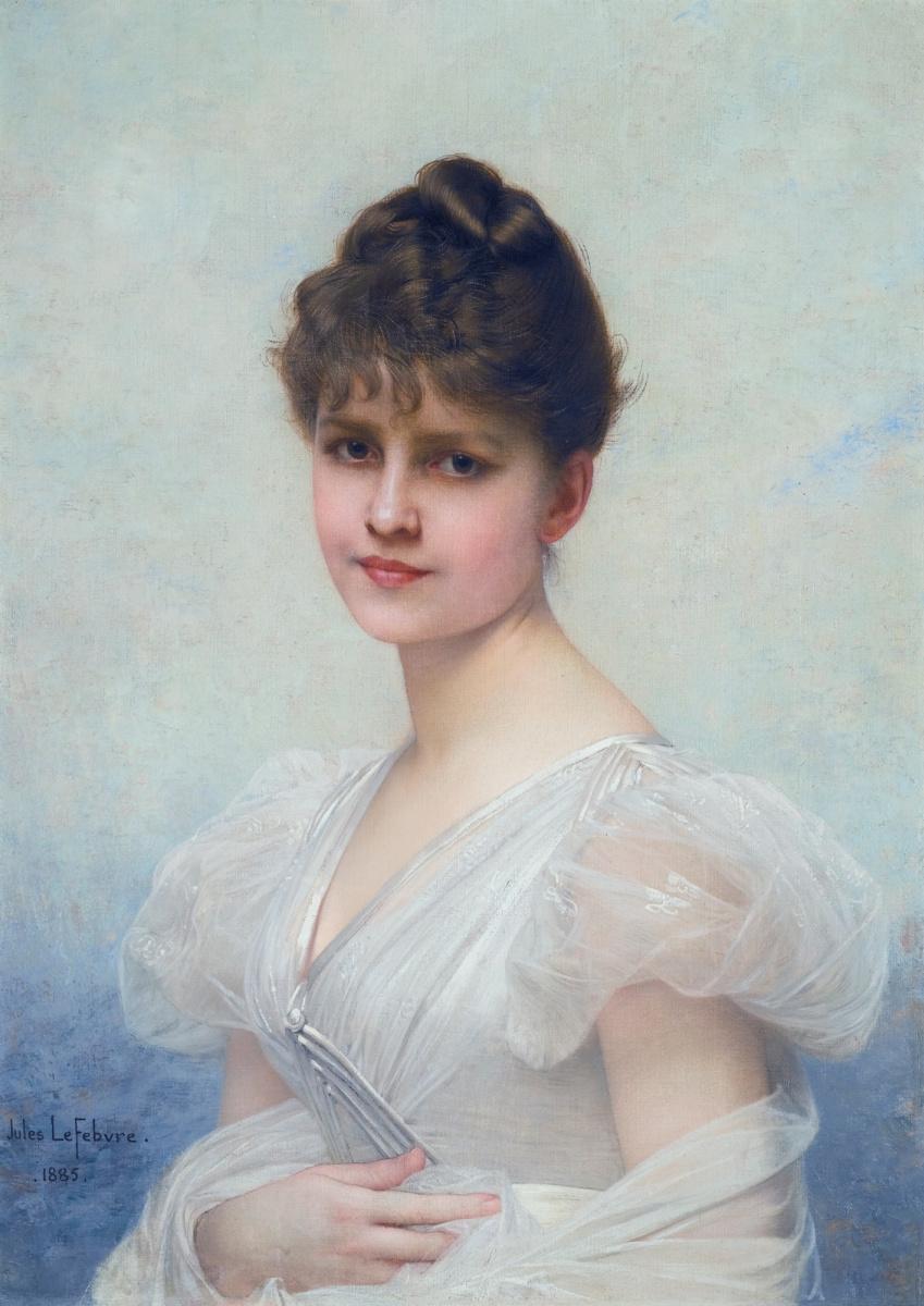 Жюль Жозеф Лефевр. Портрет Эдит Кэролайн Уоррен-Миллер (1866-1944). 1885