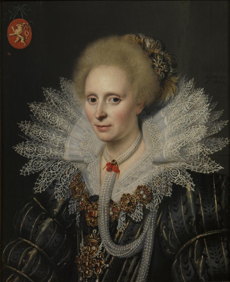 Janson Mihil van Mireveld. Portrait of a Lady from the Van Beyeren family van Schagen