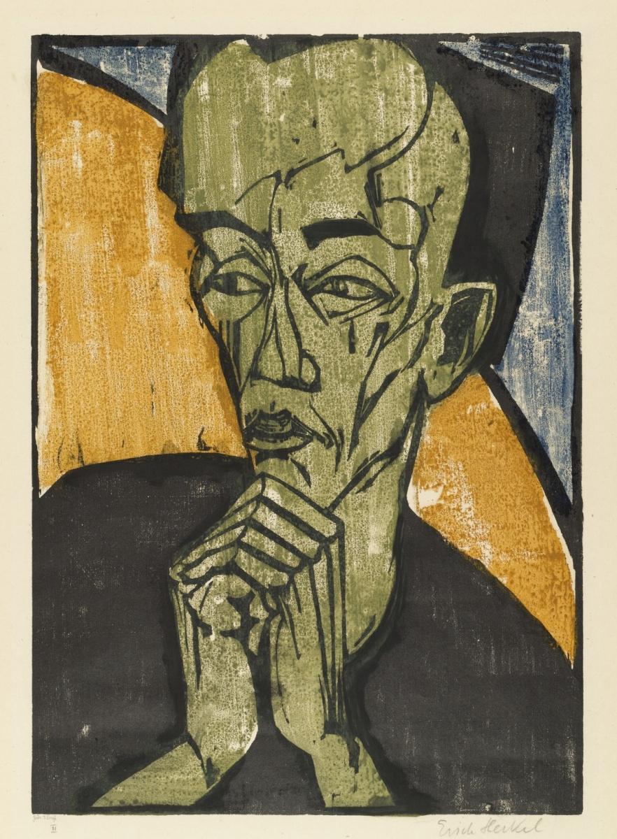 Эрих Хеккель. Портрет мужчины