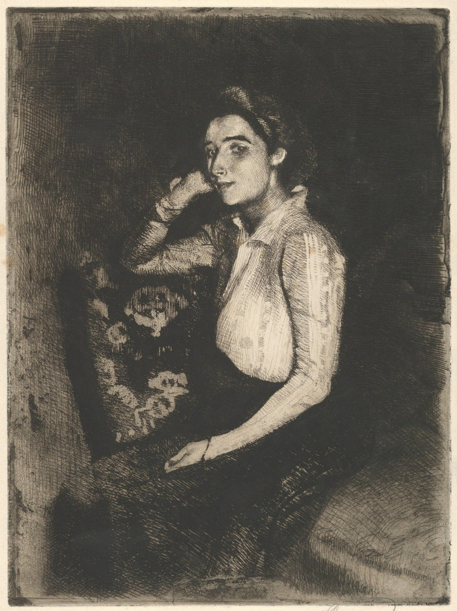Поль Альберт Бенар. Девушка из Биаррица.  1901  офорт