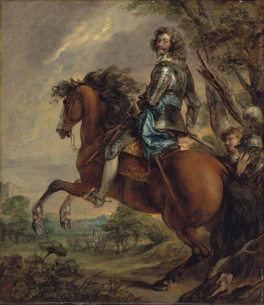 Томас Гейнсборо. Конный портрет Альберта, герцога д'Аренберга, принца Барбонсона (по ван Дейку)