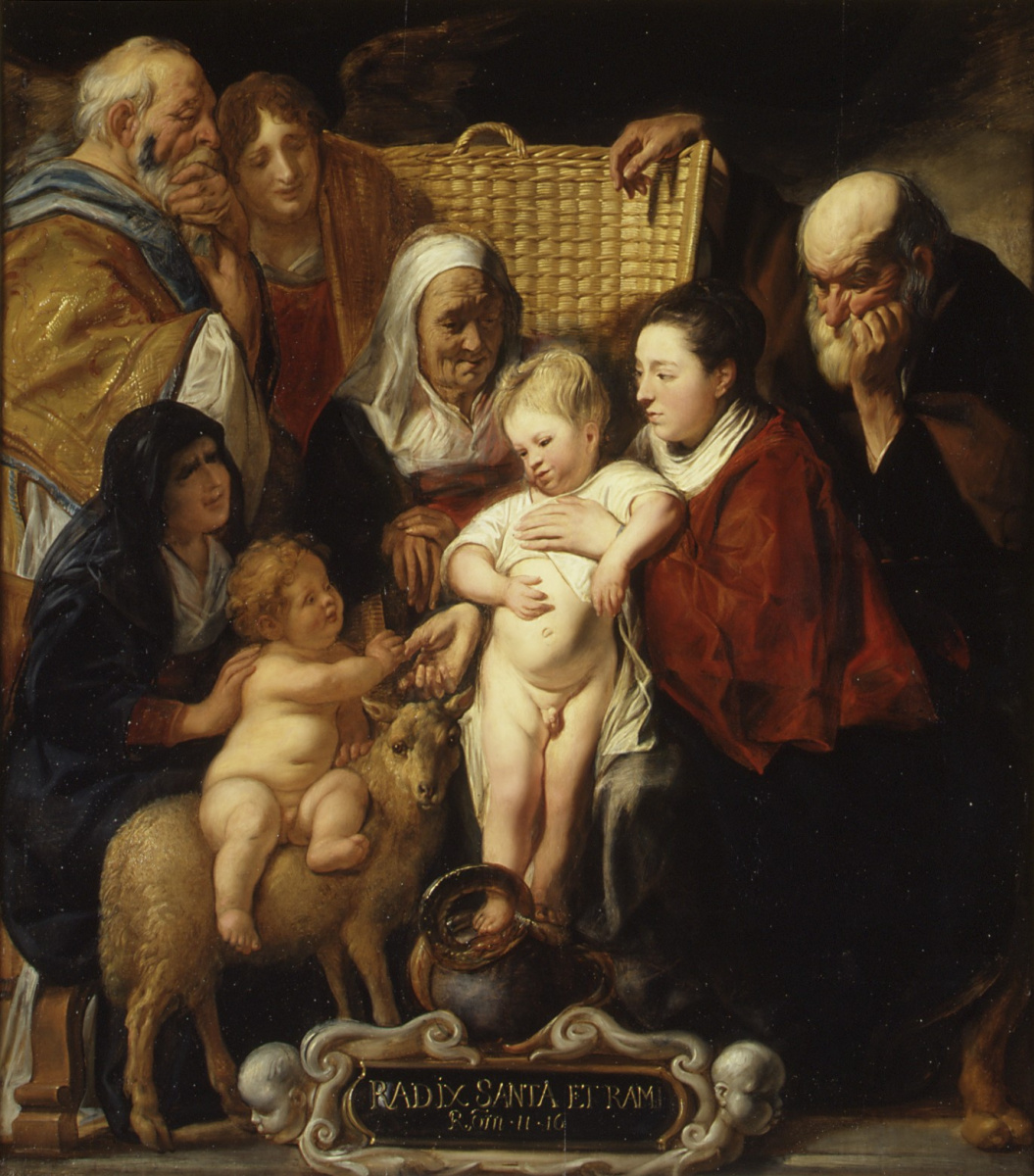 Якоб Йорданс. Holy Family with St. Anne, John the Baptist and His Parents