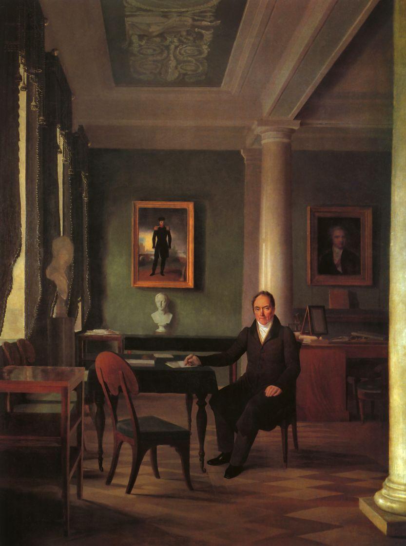 Alexey Gavrilovich Venetsianov. Portrait Of V. P. Kochubey