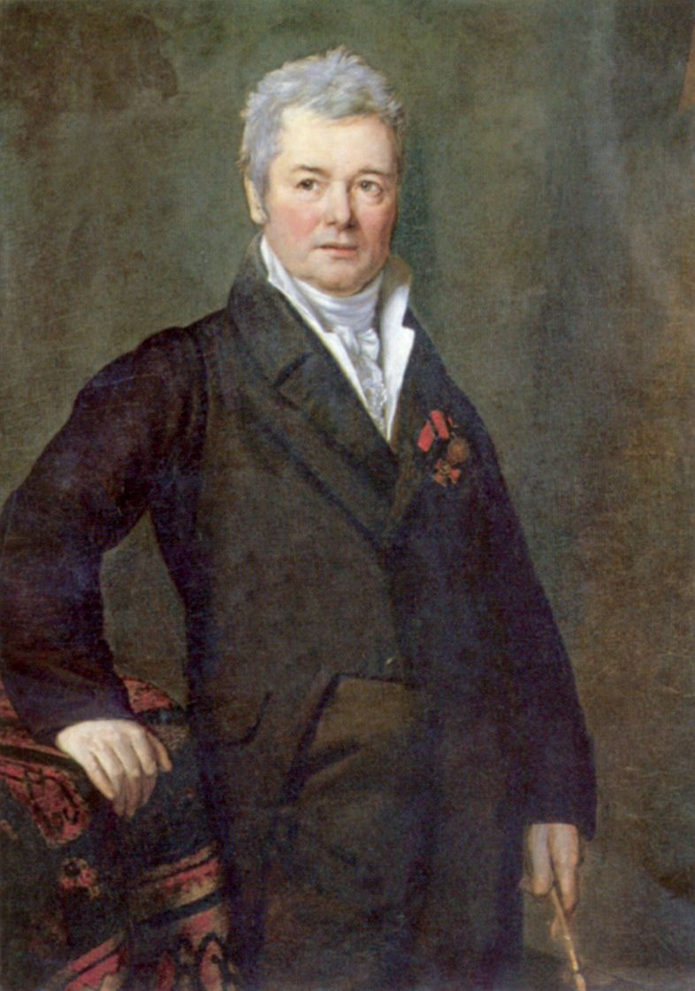 Mikhail Ivanovich Terebenev. Portrait of the artist and pedagogue of Academy of arts Fedor Yakovlevich Alekseev
