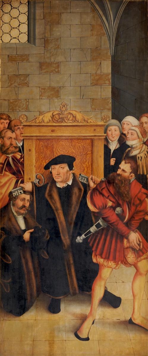 Лукас Кранах Младший 1515-1586. Алтарь. Тайная вечеря. 1530-е Прощение. правая панель