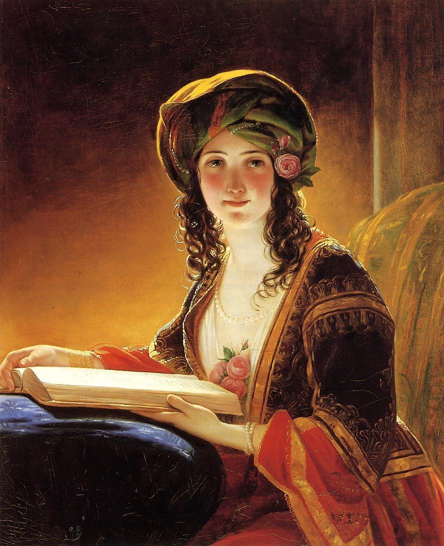 Friedrich von Amerling. Young oriental woman. 1854