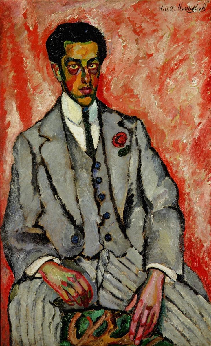 Илья Иванович Машков. Портрет неизвестного с цветком в петлице. 1910