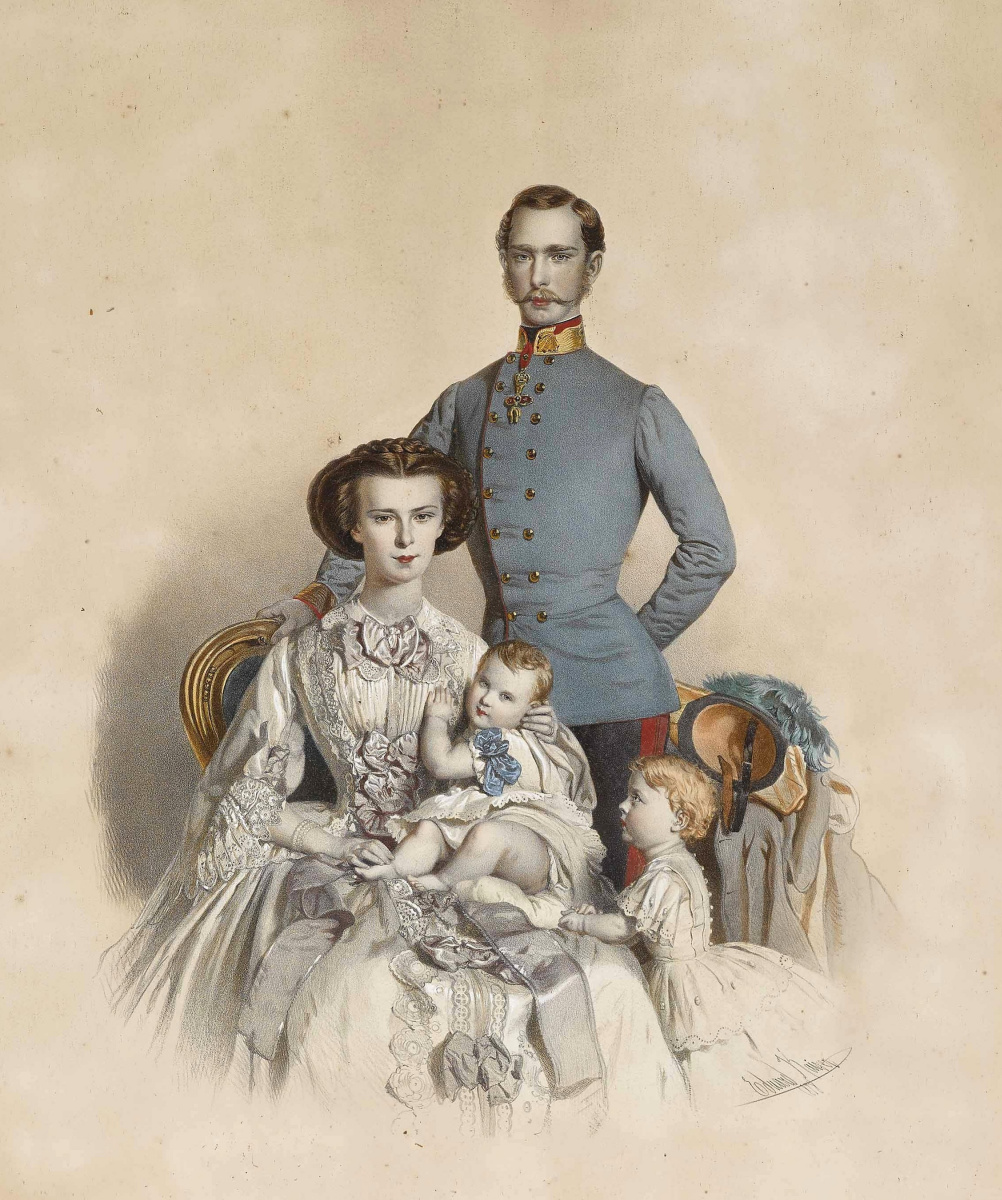 Edward Kaiser. Emperor Franz Joseph I and Empress Elizabeth of Austria with her children