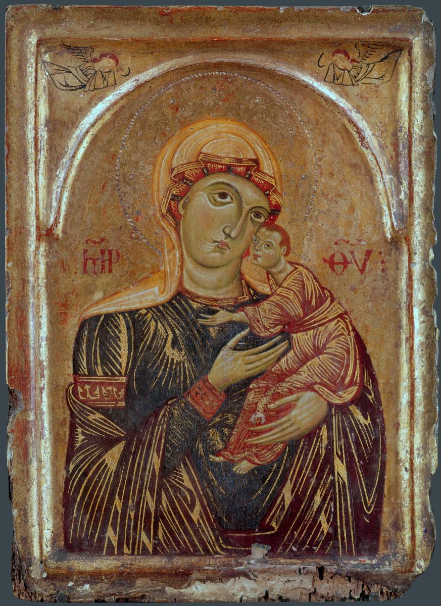 Тосканской Итальянский. Дева с младенцем и двумя ангелами