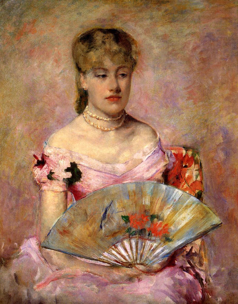 Мэри Кассат. Дама с веером или Портрет Анны-Шарлотты Гайар