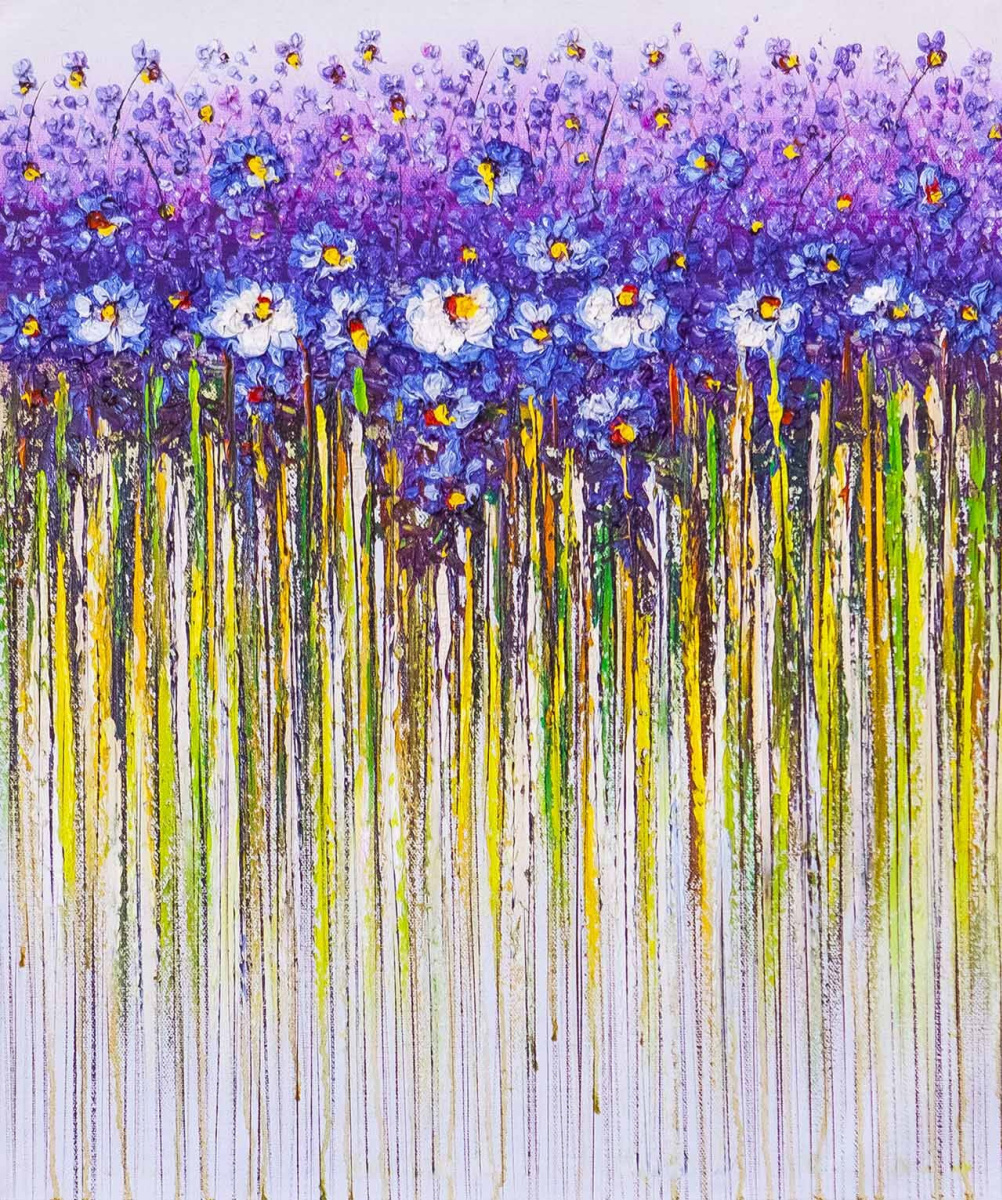 Andrzej Vlodarczyk. Blue flowers. Abstraction