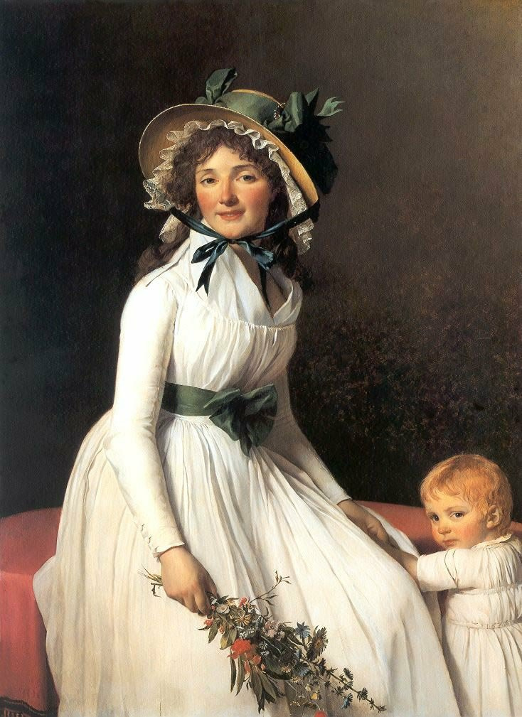 Jacques-Louis David. Portrait of Madame Amelia Seriziat son