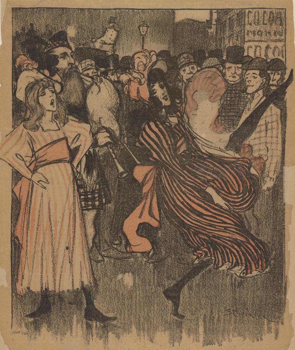 Theophile-Alexander Steinlen. Dancers Kankan