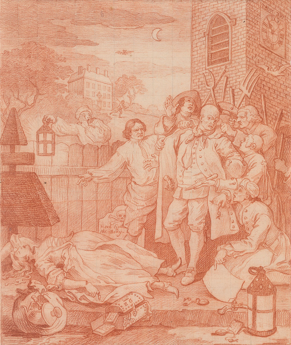 William Hogarth. Third stage of cruelty (Cruelty to perfection)