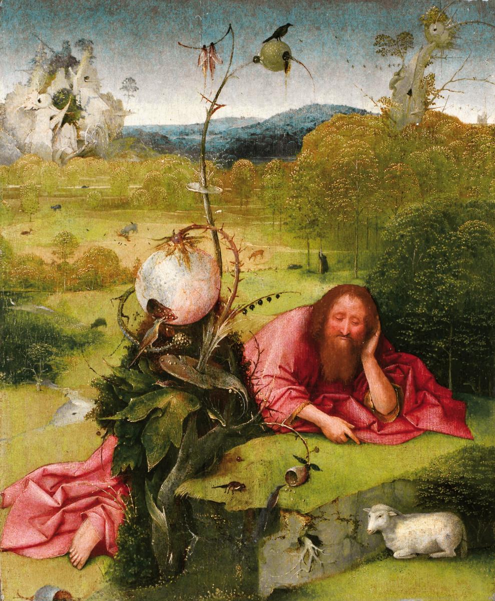 Hieronymus Bosch. St. John the Baptist in the wilderness