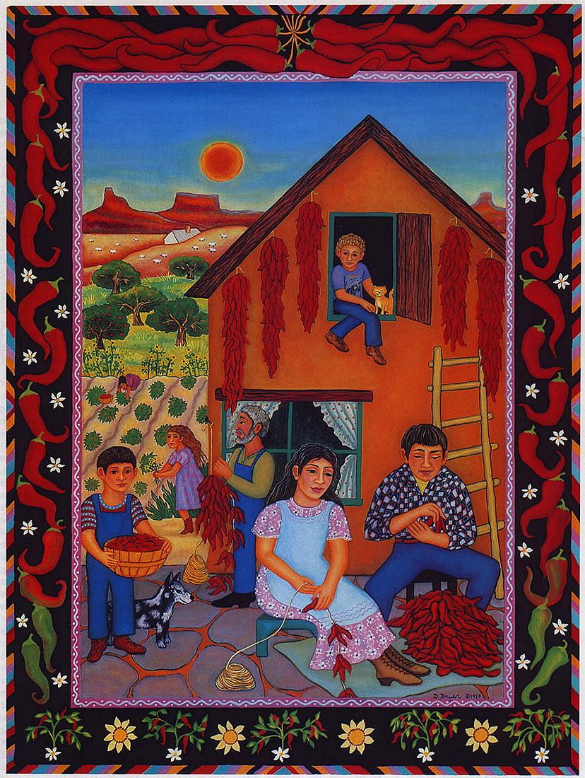 Диана Брайар. Семья заготавливает чили