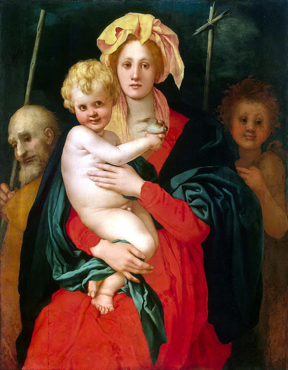 Якопо Понтормо. Мадонна с Младенцем, Святым Иосифом и Иоанном Крестителем