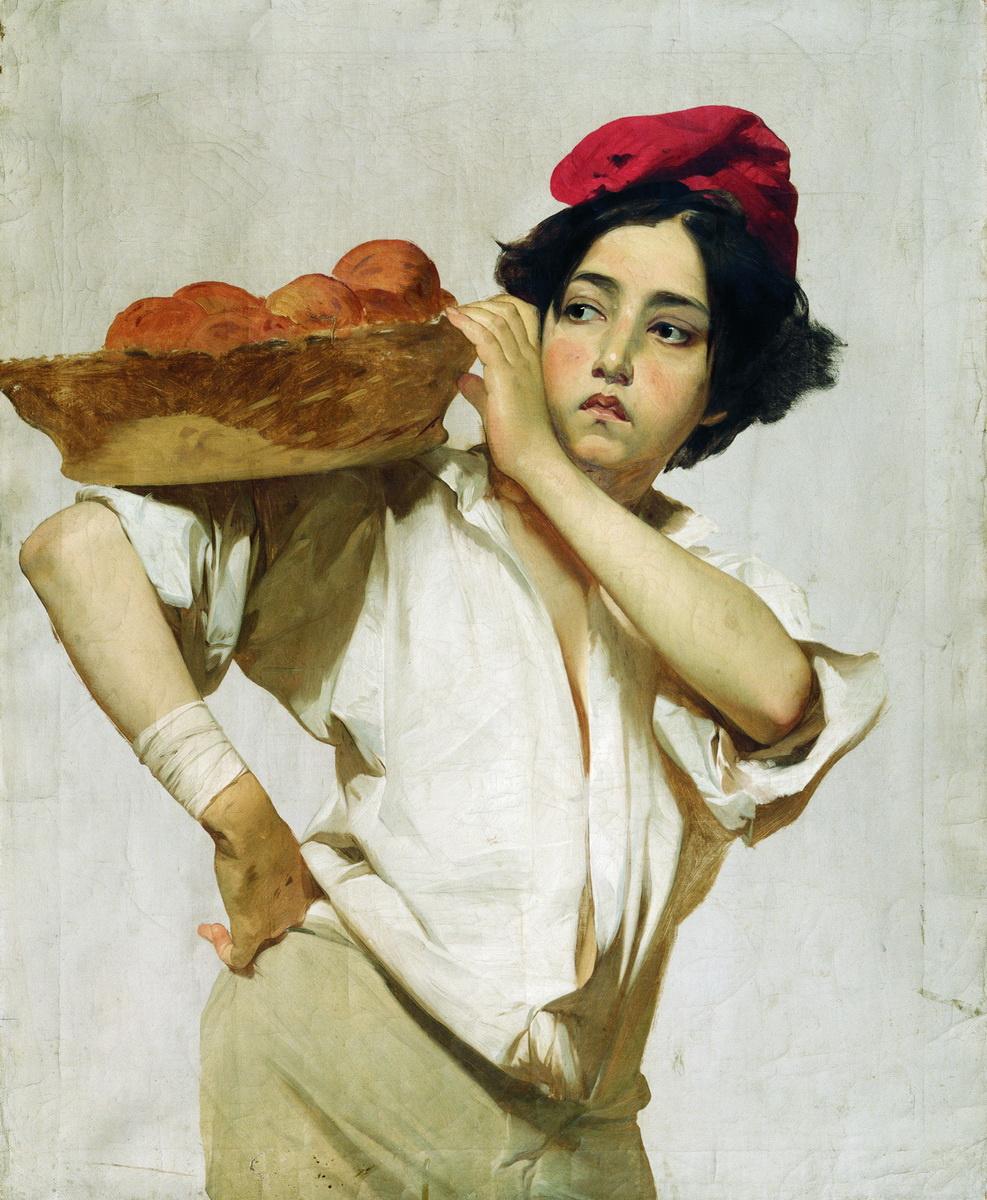 Иван Кузьмич Макаров. Итальянский разносчик. 1853-1855