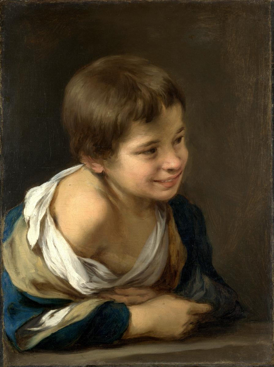 Бартоломе Эстебан Мурильо. Крестьянский мальчик, опираясь на подоконник