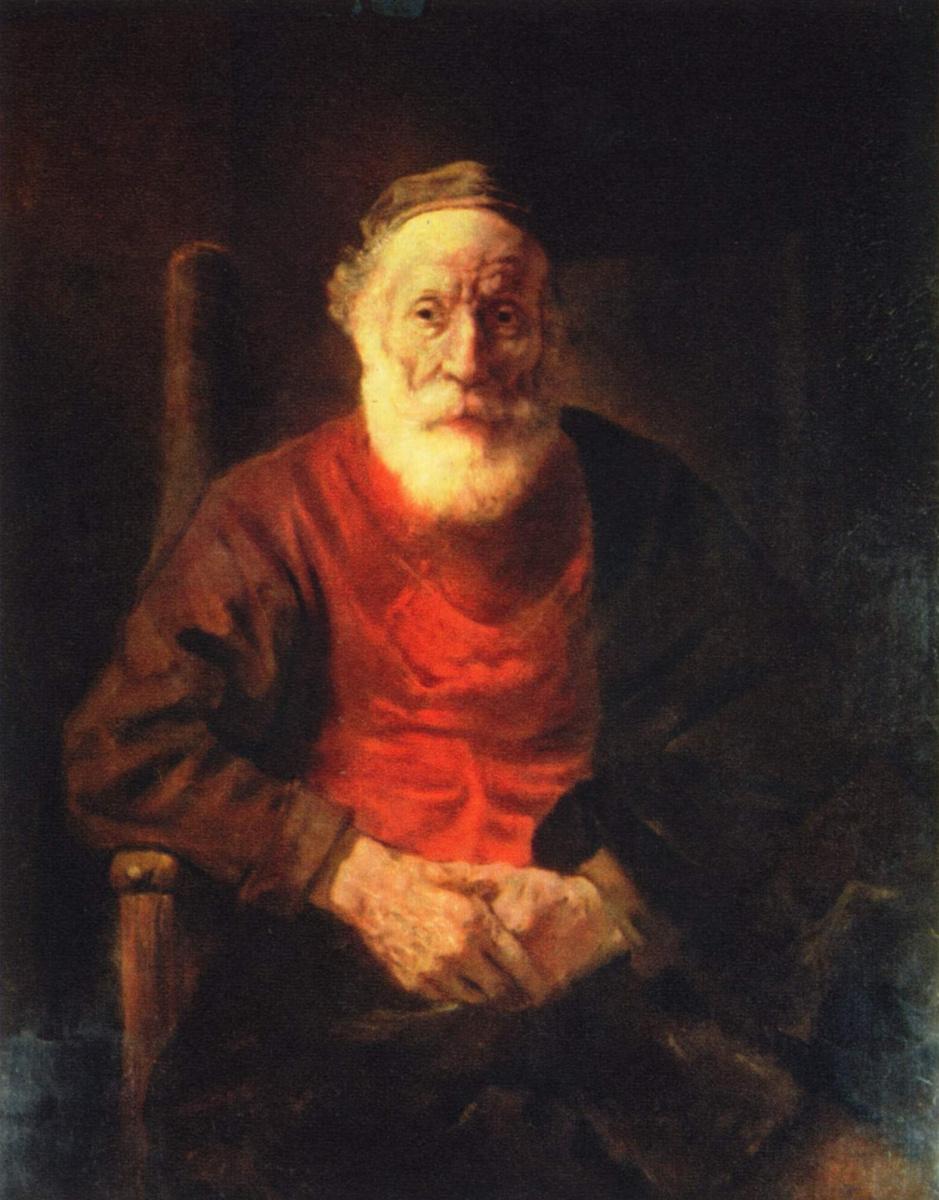 Рембрандт Ван Рейн. Старик в кресле