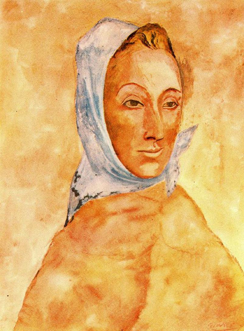 Пабло Пикассо. Портрет Фернанды Оливье в платке