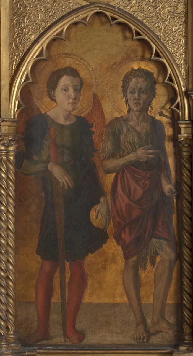Ди Антонио (Мастеп оф Ппатовекчио) Якопо. Святые Михаил и Иоанн Креститель