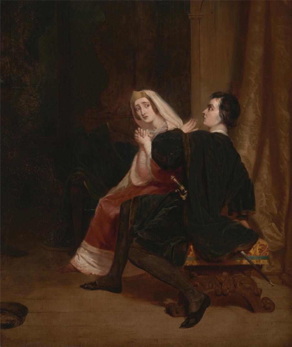 Ричард Дадд. Hamlet and his mother