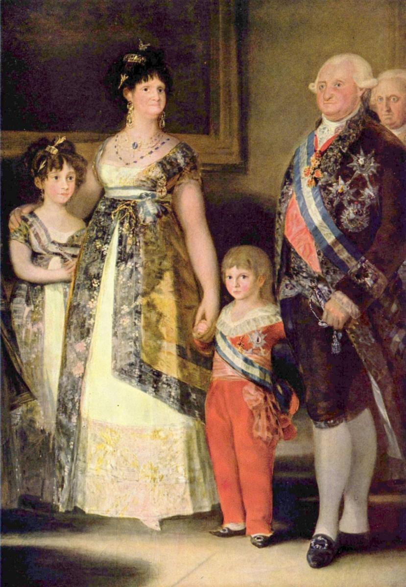 Франсиско Гойя. Семья Карла IV, фрагмент