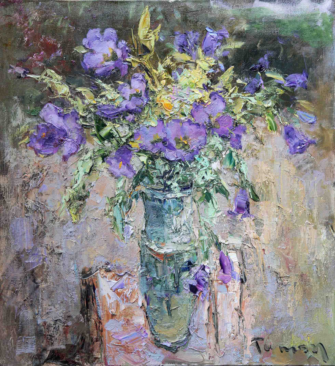 Tuman Art Gallery Tumana Zhumabayeva. Bouquet of flowers