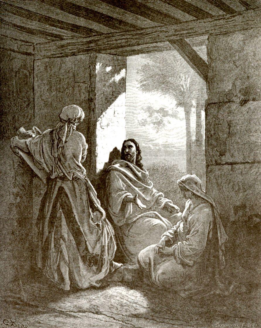 Поль Гюстав Доре. Иисус Христос у Марфы и Марии