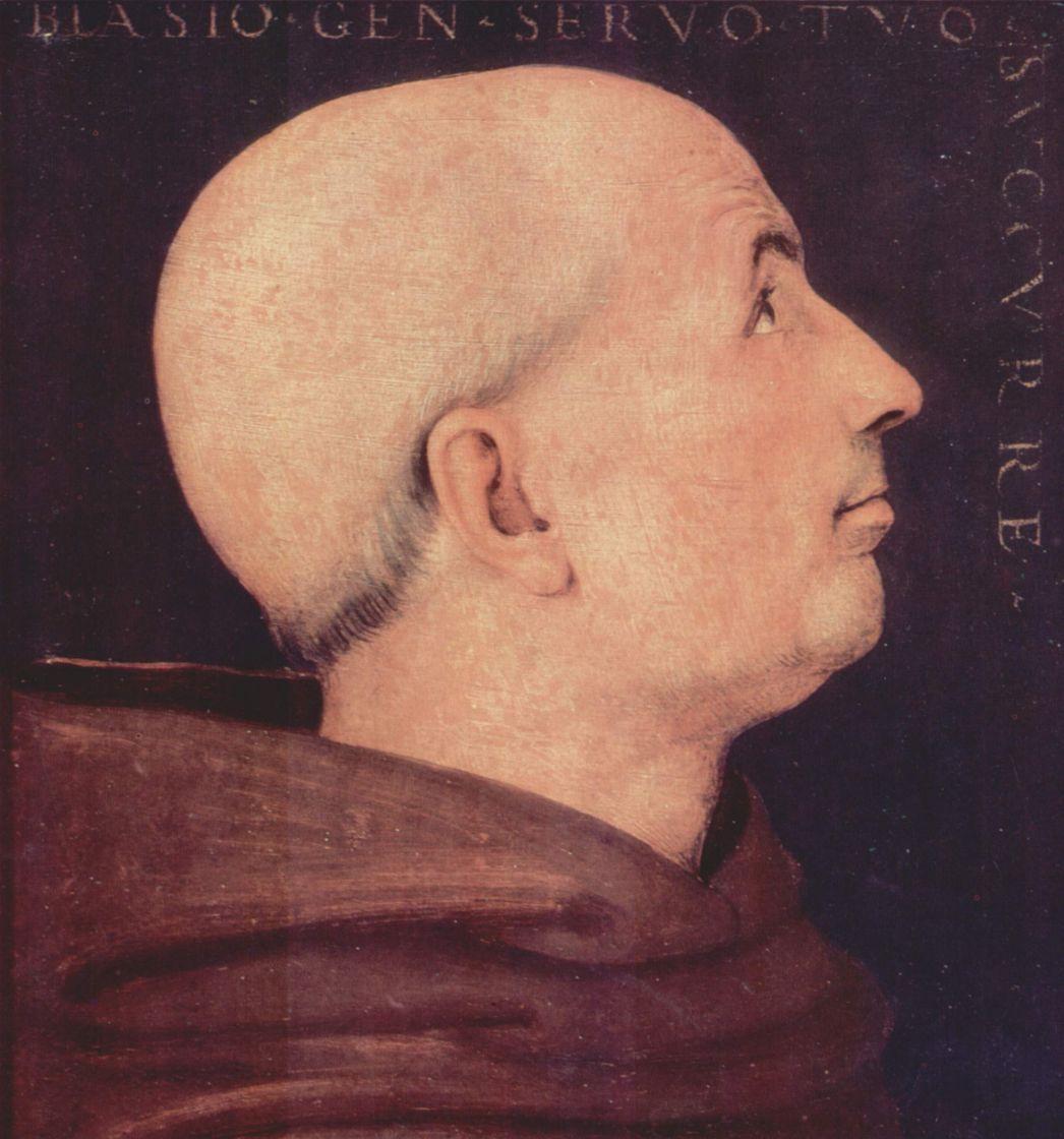 Пьетро Перуджино. Портрет дона Бьяджо Миланези