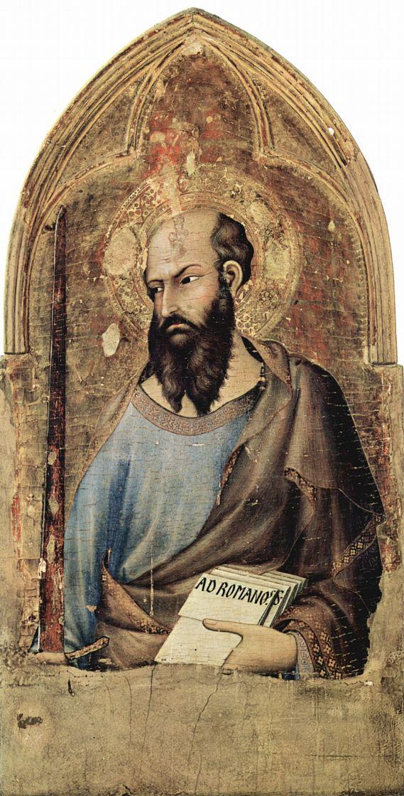 Симоне Мартини. Алтарь в Орвьето, сцена: Маэстаета со святыми, деталь: св. Павел