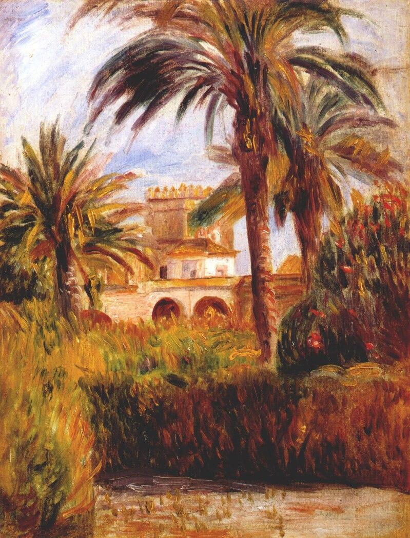 Пьер Огюст Ренуар. Сад в Алжире