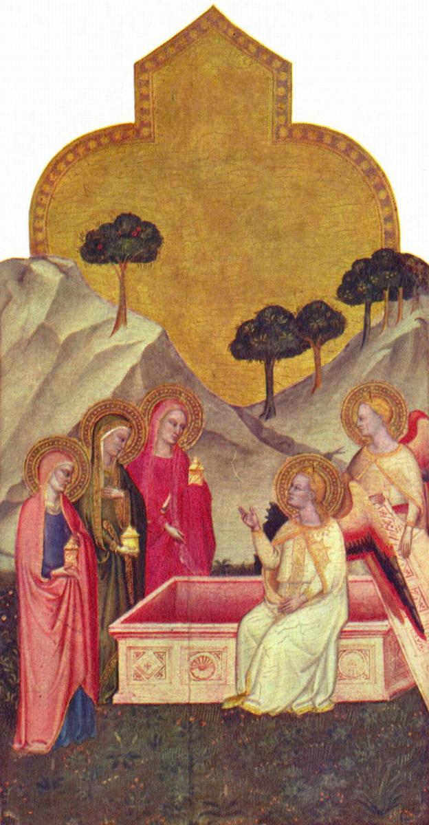 Андреа Орканья. Марии у гроба Господня
