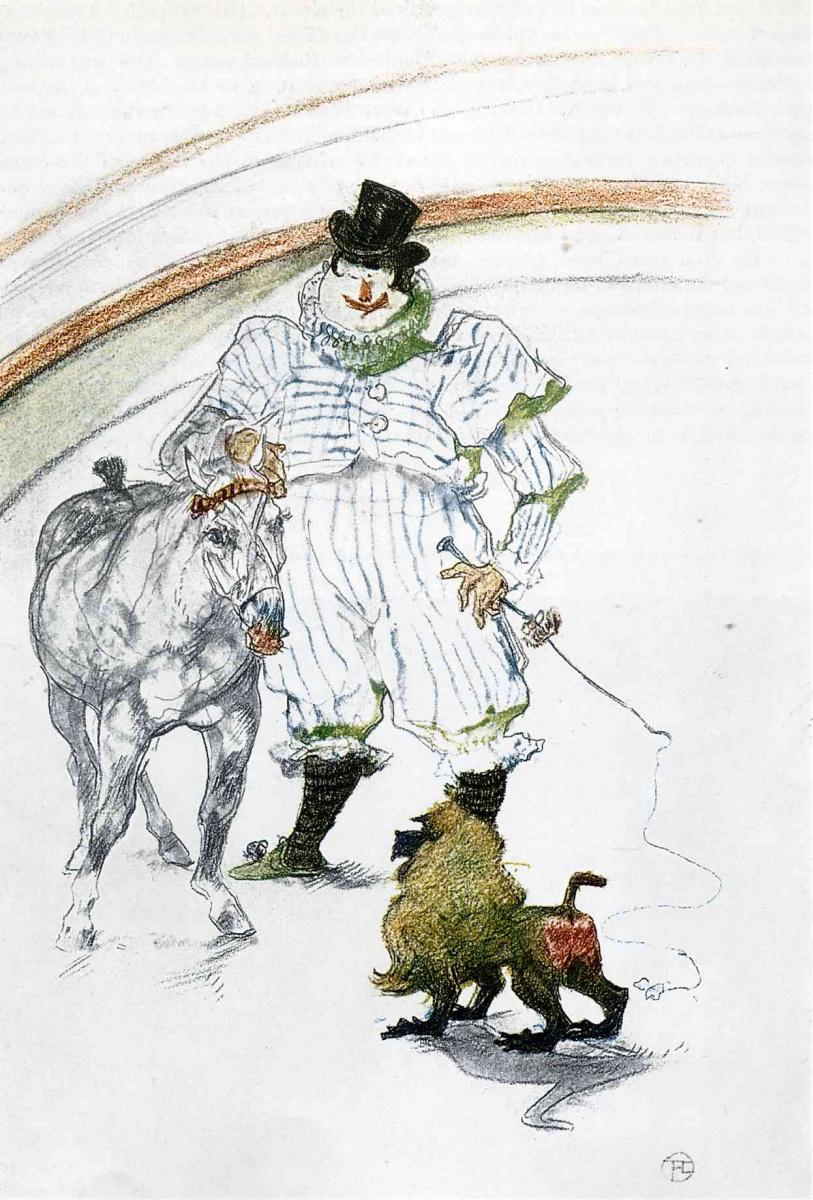 Анри де Тулуз-Лотрек. В Цирке, лошади и обезьяны