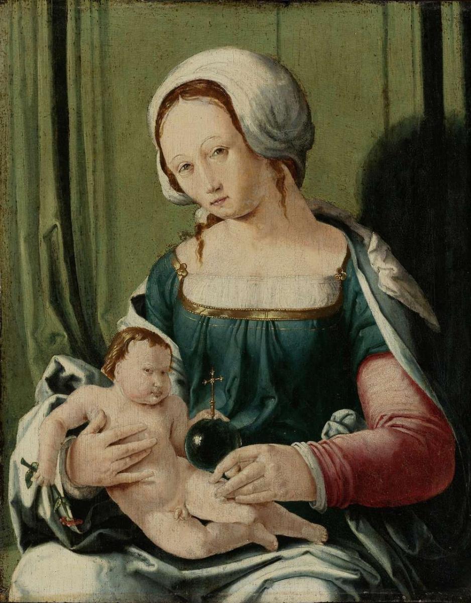 Лукас ван Лейден (Лука Лейденский). Мадонна с младенцем