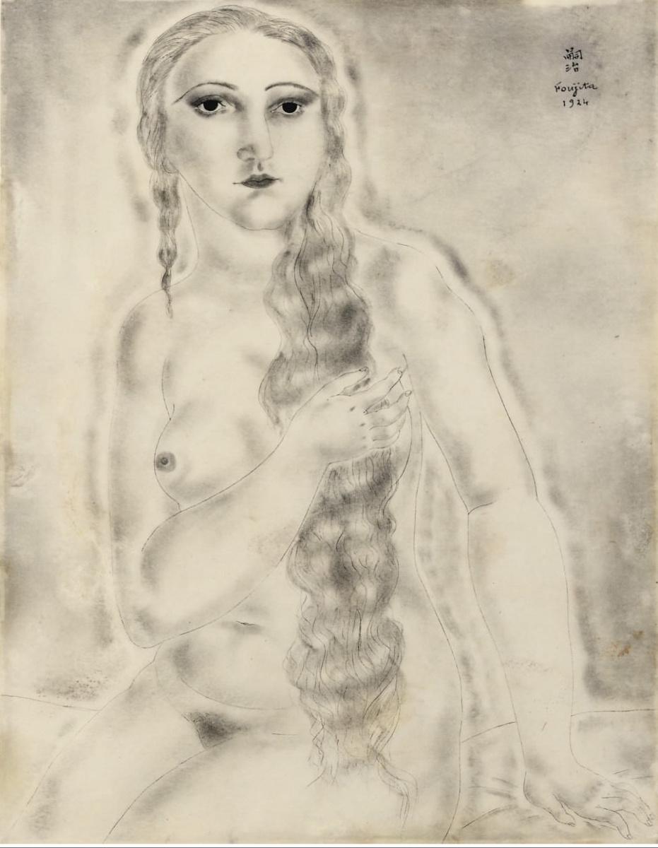Цугухару Фудзита ( Леонар Фужита ). Seated Nude