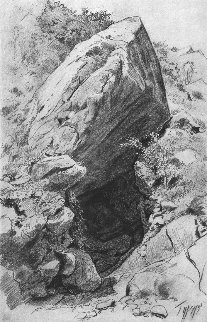 Иван Иванович Шишкин. Пещера в Гурзуфе